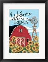 Framed Welcome Family & Friends Barn