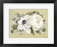 Anemone in Sage I Framed Print