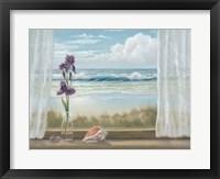 Framed Irises on Windowsill