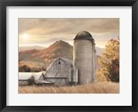 Framed Autumn at the Farm