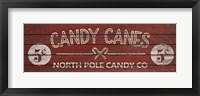 Framed Candy Canes