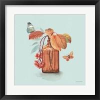 Autumn in Nature 03 on Aqua Framed Print