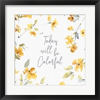 Happy Yellow 21A Framed Print