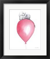 Baby Elephant Love II Framed Print