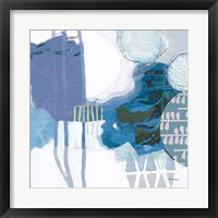 Abstract Layers IV Blue Framed Print