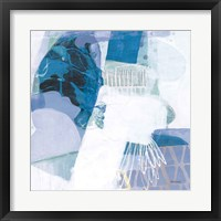 Abstract Layers III Blue Framed Print