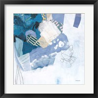 Abstract Layers II Blue Framed Print
