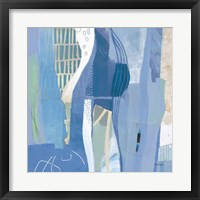 Abstract Layers I Blue Framed Print
