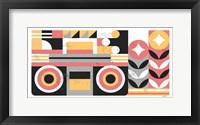 Framed Abstract Boombox