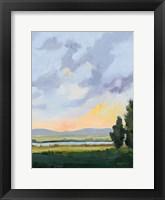 Evening Skies III Framed Print