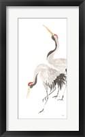 Scroll Crane IV Framed Print