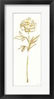 Floral Line II White Gold Framed Print