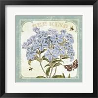 Parisian Flowers II Bees Framed Print