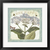 Parisian Flowers I Bees Framed Print