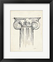 Museum Sketches VII Off White Framed Print
