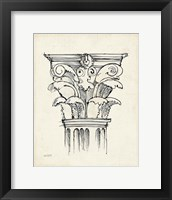 Museum Sketches VI Off White Framed Print