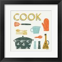 Retro Kitchen III Framed Print