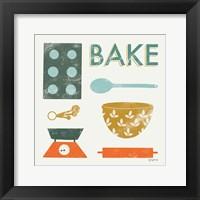 Retro Kitchen II Framed Print
