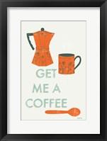 Retro Kitchen Coffee I Framed Print