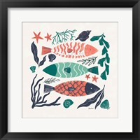 Coastal Reef I Framed Print