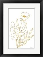Rooted Florals IV Gold Framed Print
