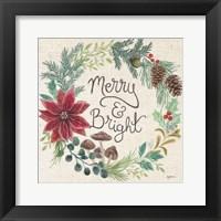 Christmas Chalk III Light Framed Print