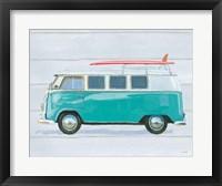 Beach Ride X Framed Print