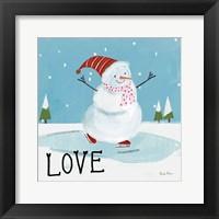 Snowman Snowday IV Framed Print