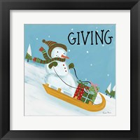 Snowman Snowday II Framed Print
