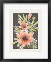 Floral Blueberries I Framed Print