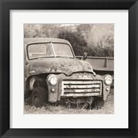 Framed Retired Truck I