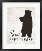 Framed Bear Feet Please