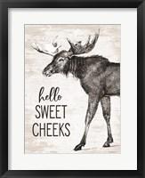 Framed Hello Sweet Cheeks Moose