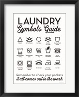Framed Laundry Symbols Guide