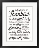 Framed Laundry Blessings I
