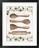 Framed Wooden Utensils