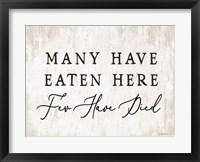 Framed Many Have Eaten Here