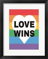 Framed Rainbow Love Wins
