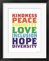 Framed Rainbow Equality