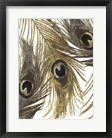 Gold and Silver Feathers I Framed Print