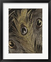 Gold and Silver Feathers II Framed Print