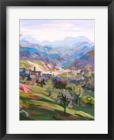 Framed Italian Hillside