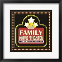 Family Movie Theater Framed Print