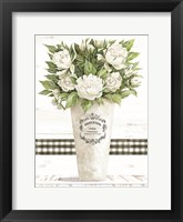 White Peonies Framed Print