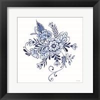 Blue & White Flowers I Framed Print