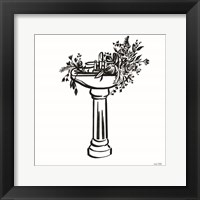 Vintage Floral Sink Framed Print