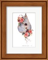 Framed Birdhouse and Blossoms I