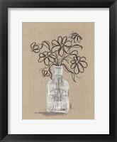 Sketchy Floral 1 Framed Print