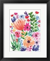 Vibrant Flowers II Framed Print