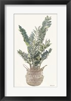 Foliage in Woven Pot 1 Framed Print